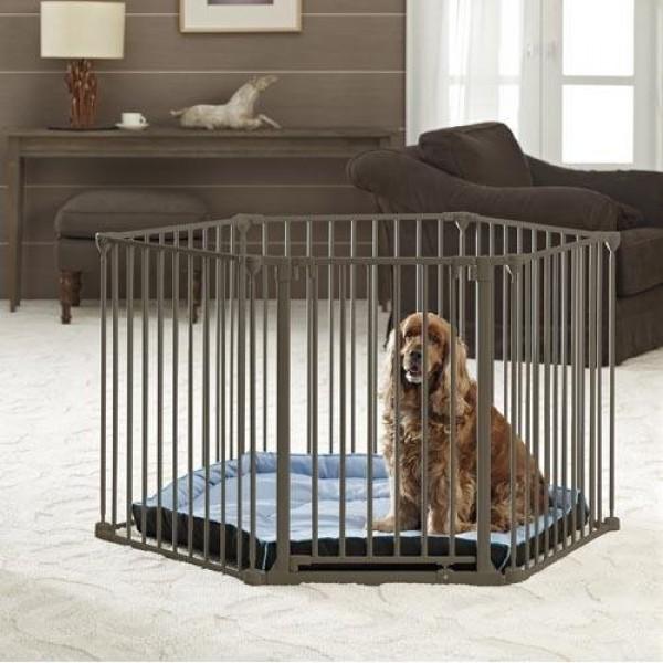 Comprar parque convertible en barrera de seguridad para for Vallas para perros en casa
