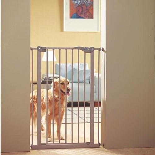 Puerta de seguridad para perros dog barrier barrera para casa for Puerta seguridad perros