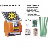 Pastor eléctrico solar para perros valla 3w Kit Completo