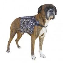 Alforja para perros negra estampada mochila