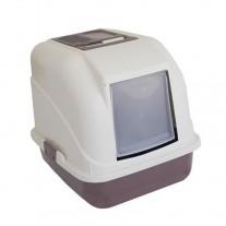 Arenero cerrado rectangular con filtro anti olores
