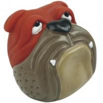 Pelota con sonido cara Bulldog para perros