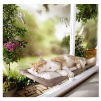 Cama para gatos con ventosas para ventanas