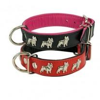 Collar Piel Bulldog Francés