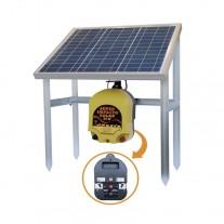 Electrificador Super-Impacto-Solar 25 W a batería exterior Pastor eléctrico cercado