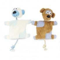 Mantita peluche y cuerda juguetes para perros lanzadores