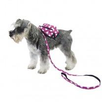 Mochila Arnes para perros pequeños Negra Rosa lunares