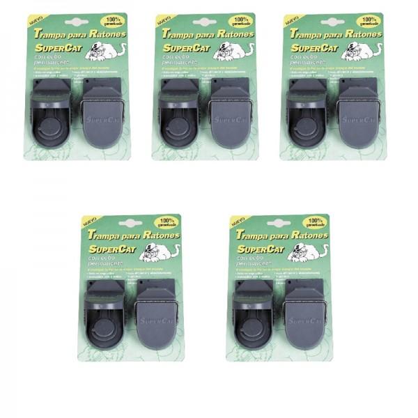 5 Trampas para ratones eficaces Supercat con cebos permanentes | Mejores trampas para ratones del mundo al mejor precio