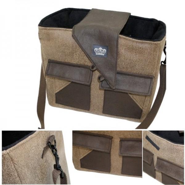 Bolso polipiel Marrón alta calidad para perros y gatos , comprar bolso piel para perros, bolso de piel para transportar perros