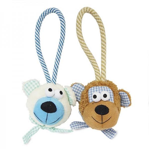 Caras de peluche con cuerda juguetes para perros lanzadores comprar mejor precio