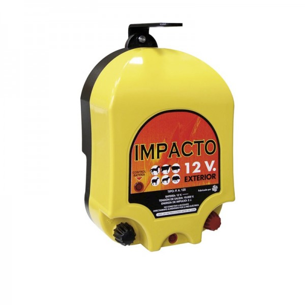 Cerca eléctrica Impacto 12 V. Batería exterior pastor eléctrico