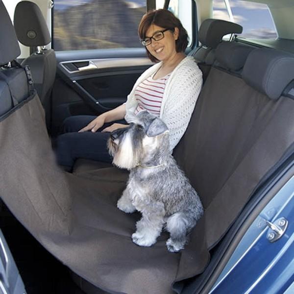 Cubreasientos coche completo marrón con laterales para perros comprar mejor precio