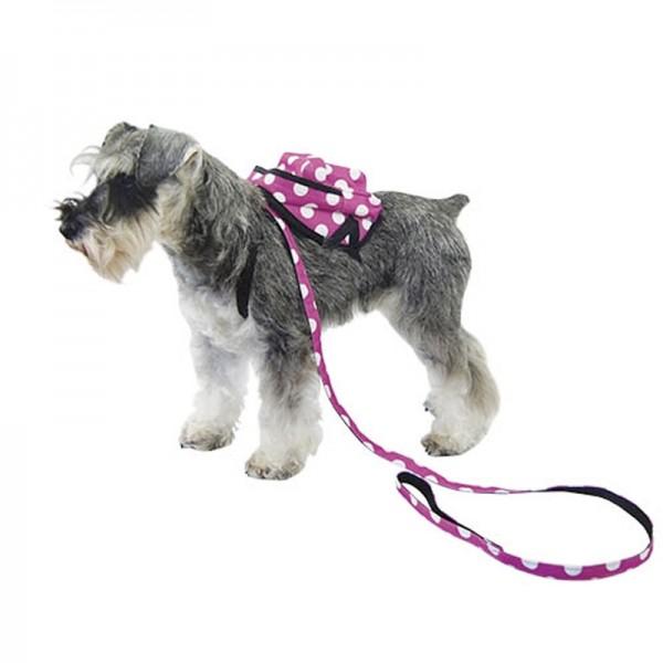 Mochila Arnes para perros pequeños Negra Rosa lunares al mejor preico