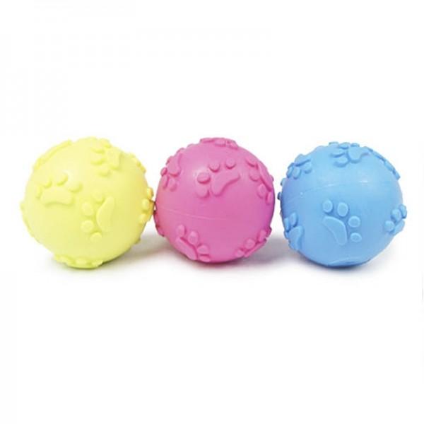 Pelota con huellas juguete perros muy resistentes goma termoplástica