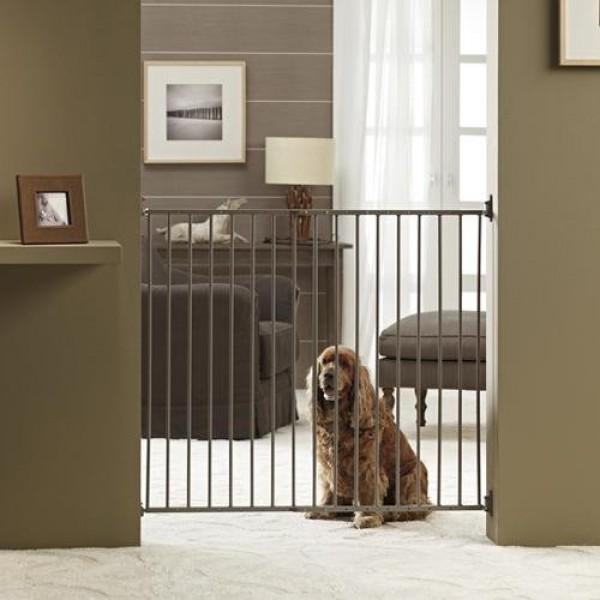 Comprar puerta barrera de seguridad ajustable interior para perros on line al mejor precio - Puerta vaiven para perros ...