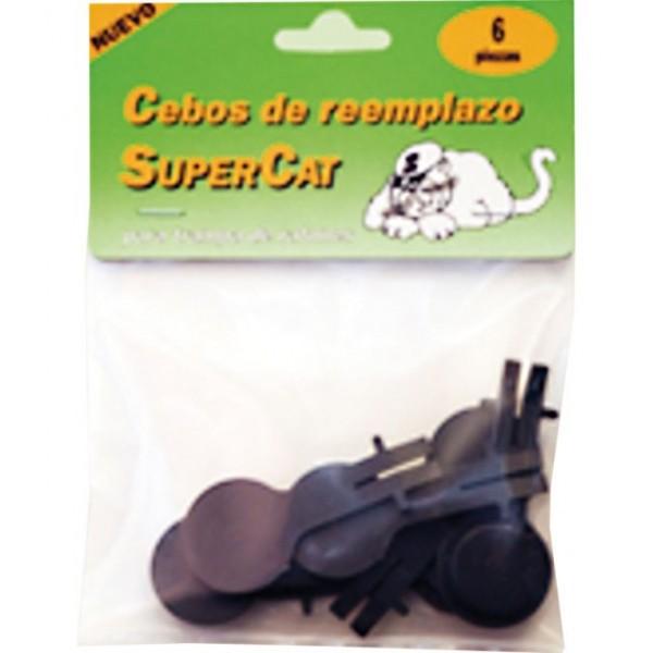 Recambio 6 cebos para Trampa para ratones eficaz Supercat