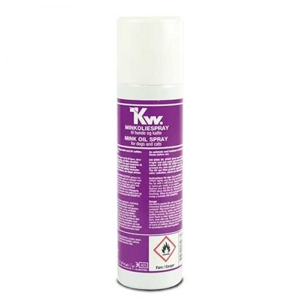 Spray Abrillantador Aceite de Visón con Lanolina Kw perros y gatos