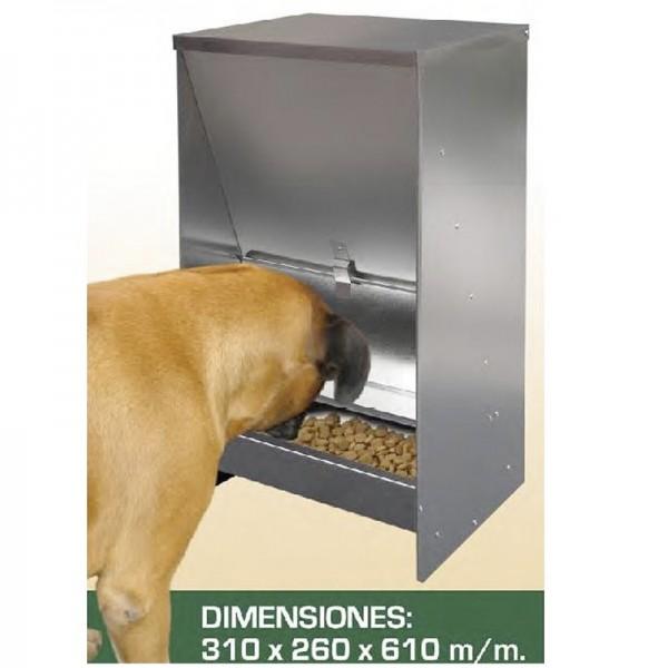 Tolva Comedero Para Perros resistente chapa galvanizada al mejor precio