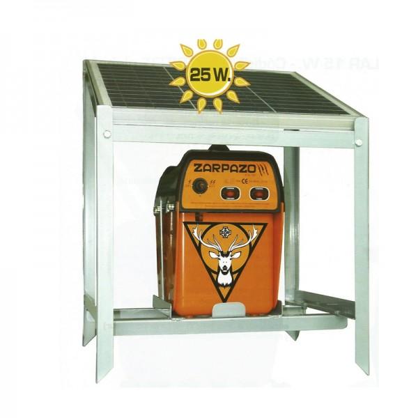 Zarpazo 12 V solar Pastor eléctrico placa solar 25w más potente del mercado